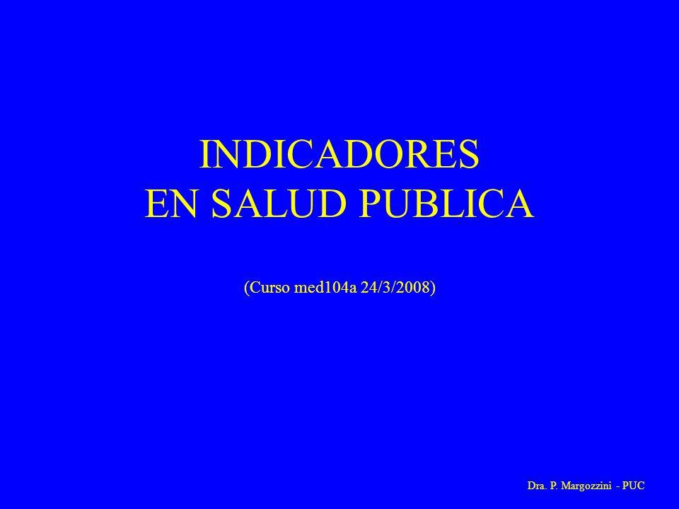 INDICADORES EN SALUD PUBLICA (Curso med104a 24/3/2008)