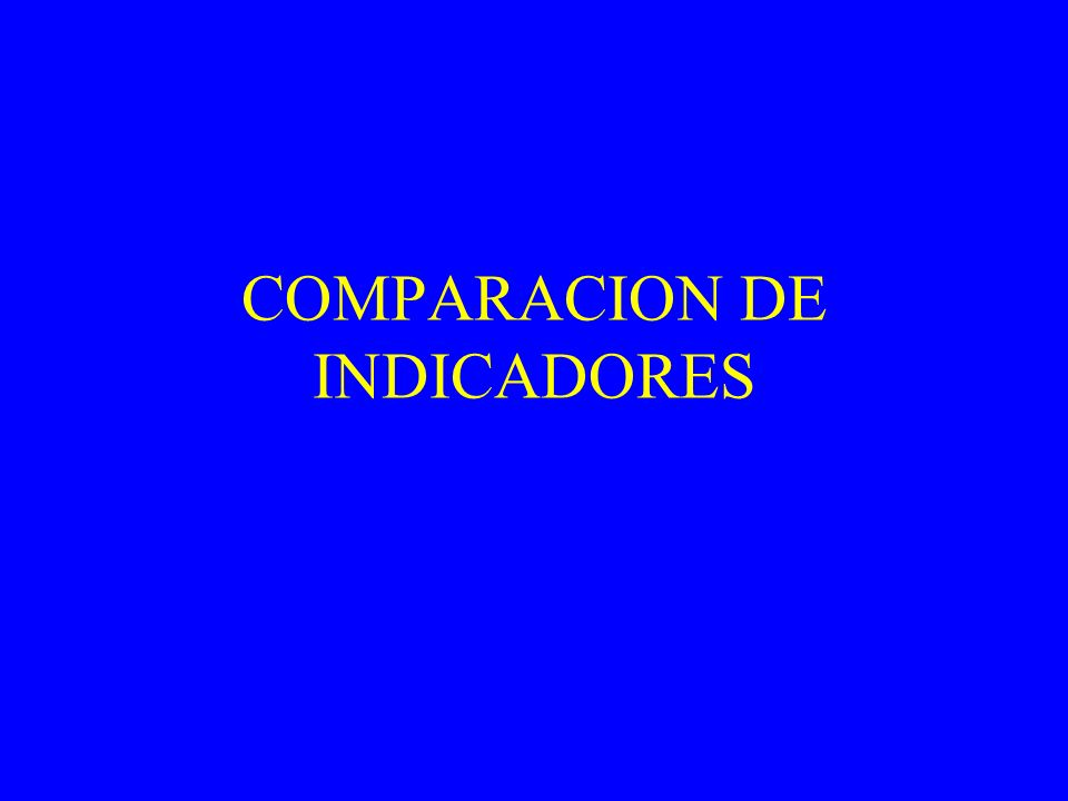 COMPARACION DE INDICADORES