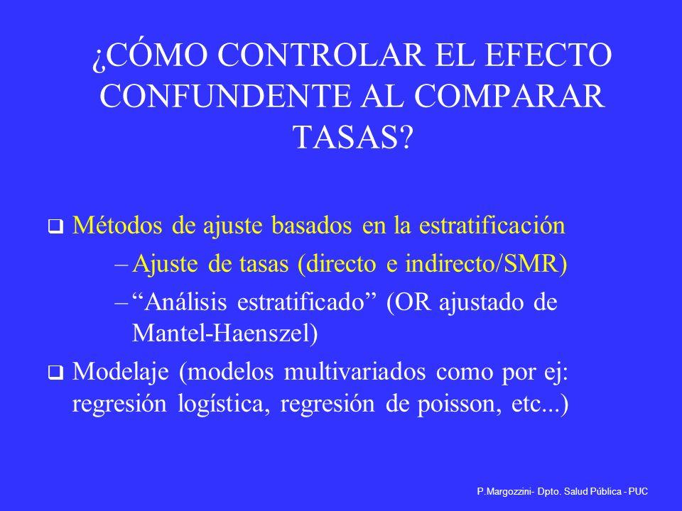 ¿CÓMO CONTROLAR EL EFECTO CONFUNDENTE AL COMPARAR TASAS