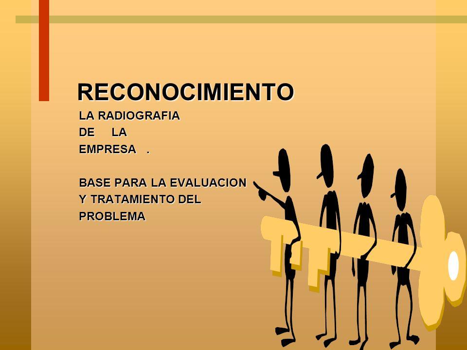 RECONOCIMIENTO LA RADIOGRAFIA DE LA EMPRESA . BASE PARA LA EVALUACION