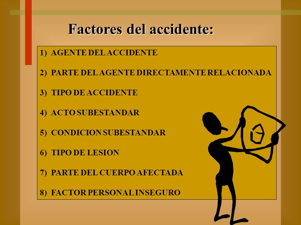 Factores del accidente: