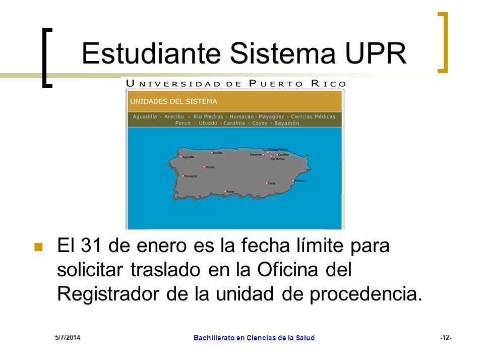 Estudiante Sistema UPR