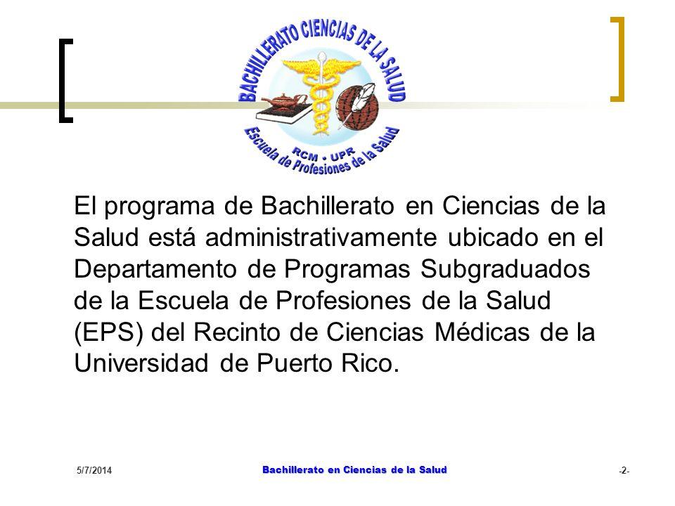 Bachillerato en Ciencias de la Salud