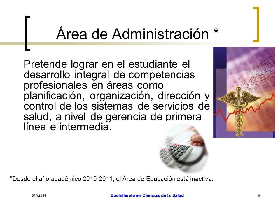 Área de Administración *