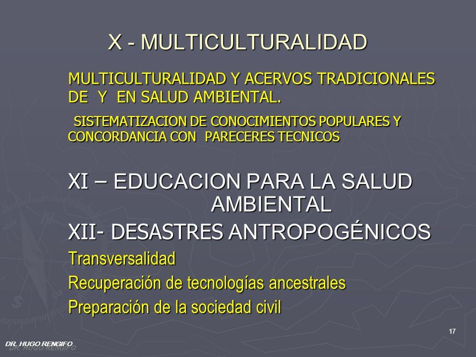 MULTICULTURALIDAD Y ACERVOS TRADICIONALES DE Y EN SALUD AMBIENTAL.