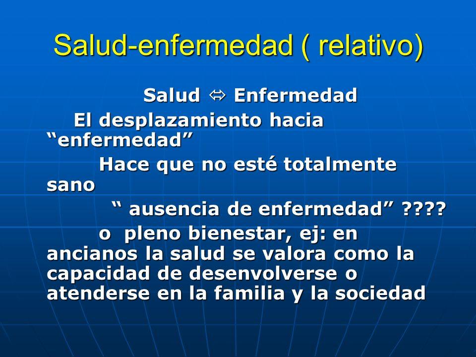 Salud-enfermedad ( relativo)
