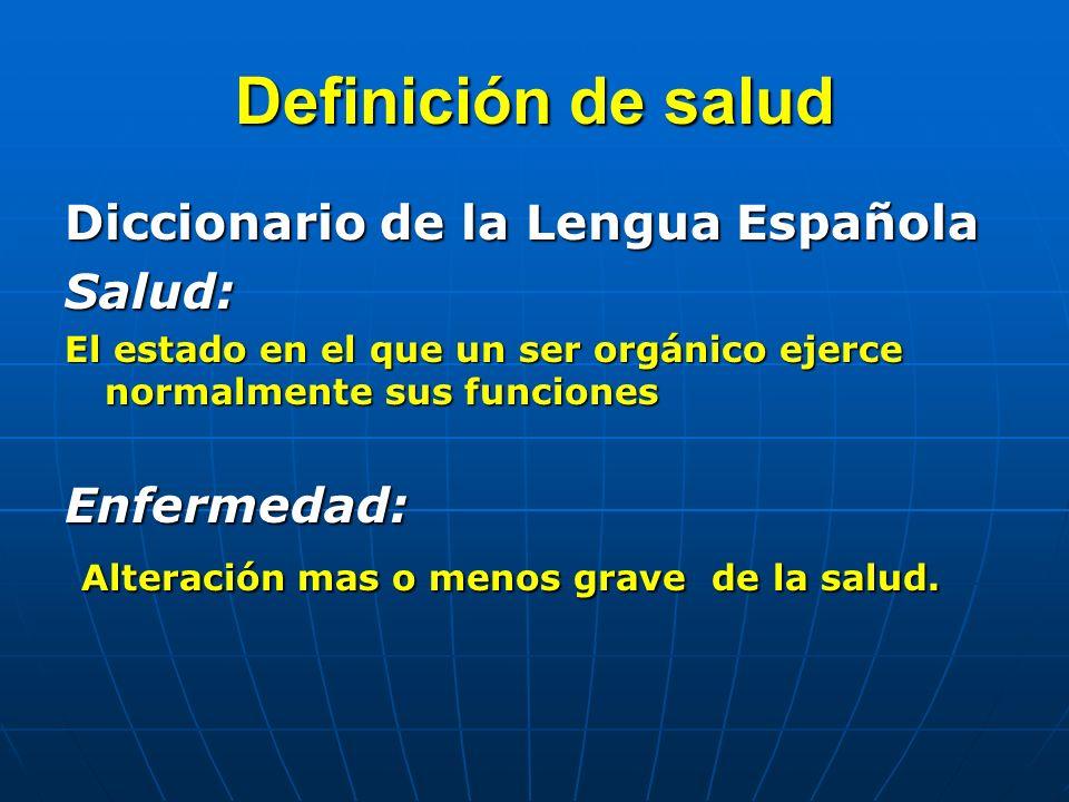 Definición de salud Diccionario de la Lengua Española Salud:
