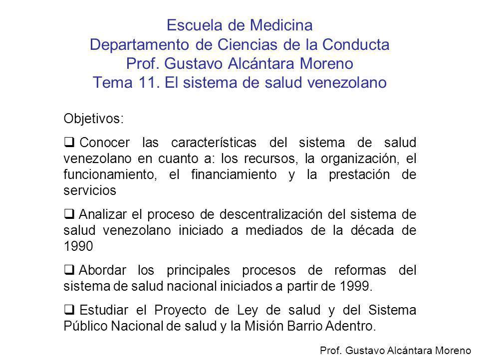 Escuela de Medicina Departamento de Ciencias de la Conducta Prof
