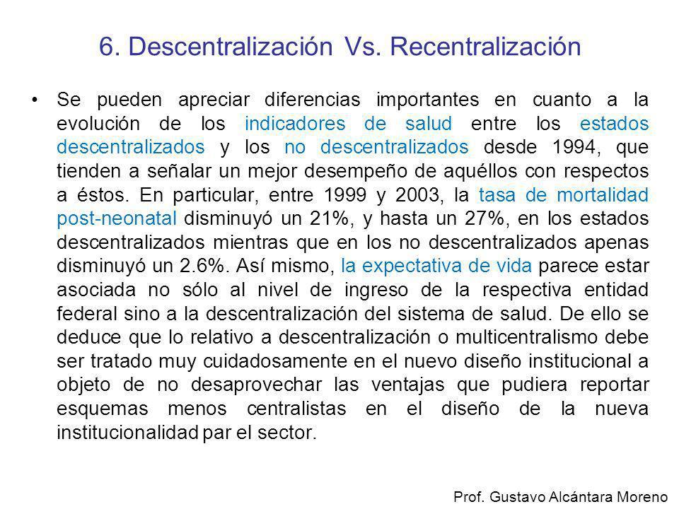 6. Descentralización Vs. Recentralización