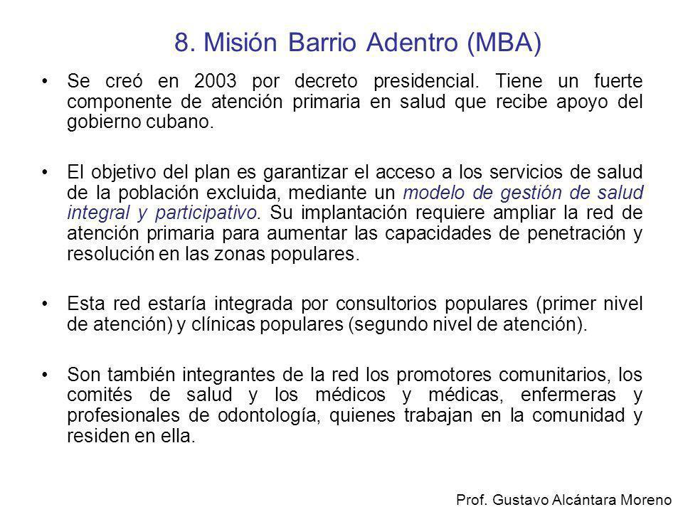 8. Misión Barrio Adentro (MBA)