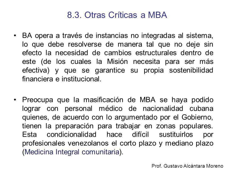 8.3. Otras Críticas a MBA