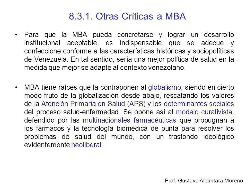 8.3.1. Otras Críticas a MBA
