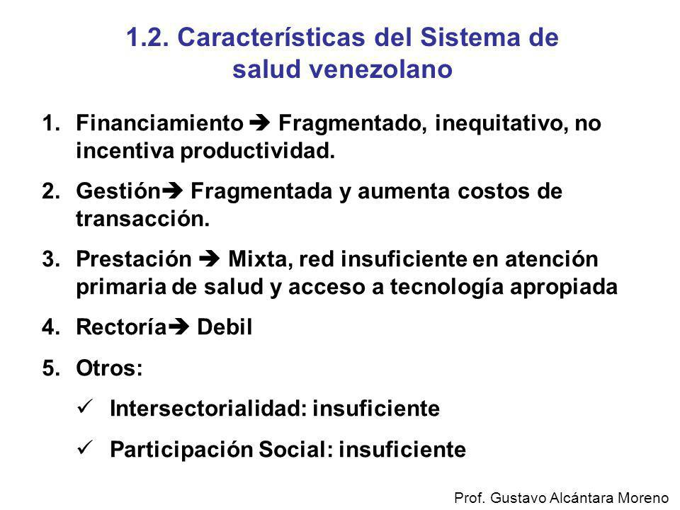 1.2. Características del Sistema de salud venezolano