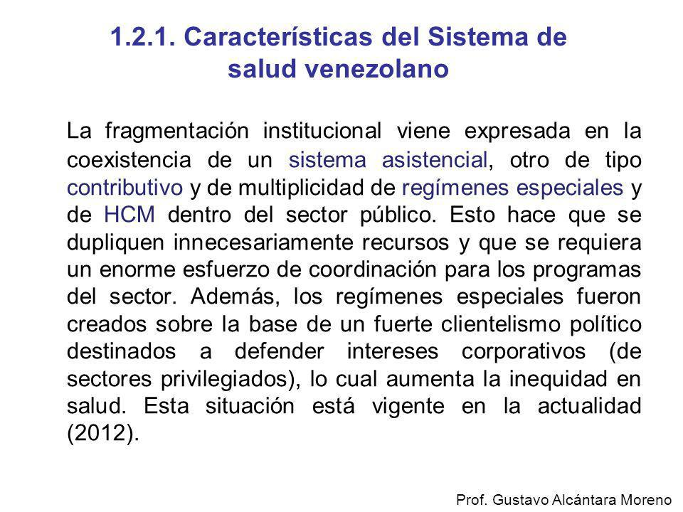 1.2.1. Características del Sistema de salud venezolano