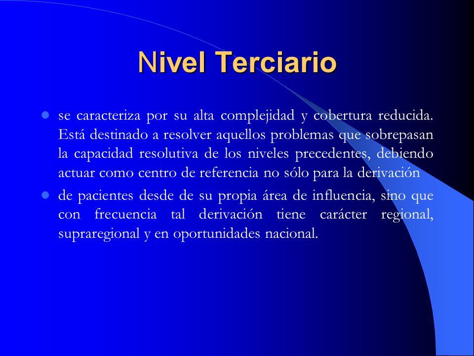 Nivel Terciario