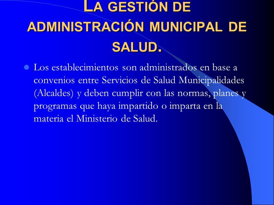 La gestión de administración municipal de salud.