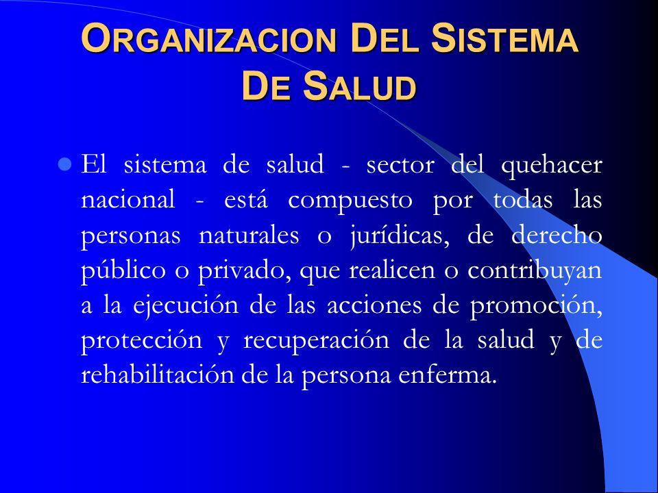 Organizacion Del Sistema De Salud
