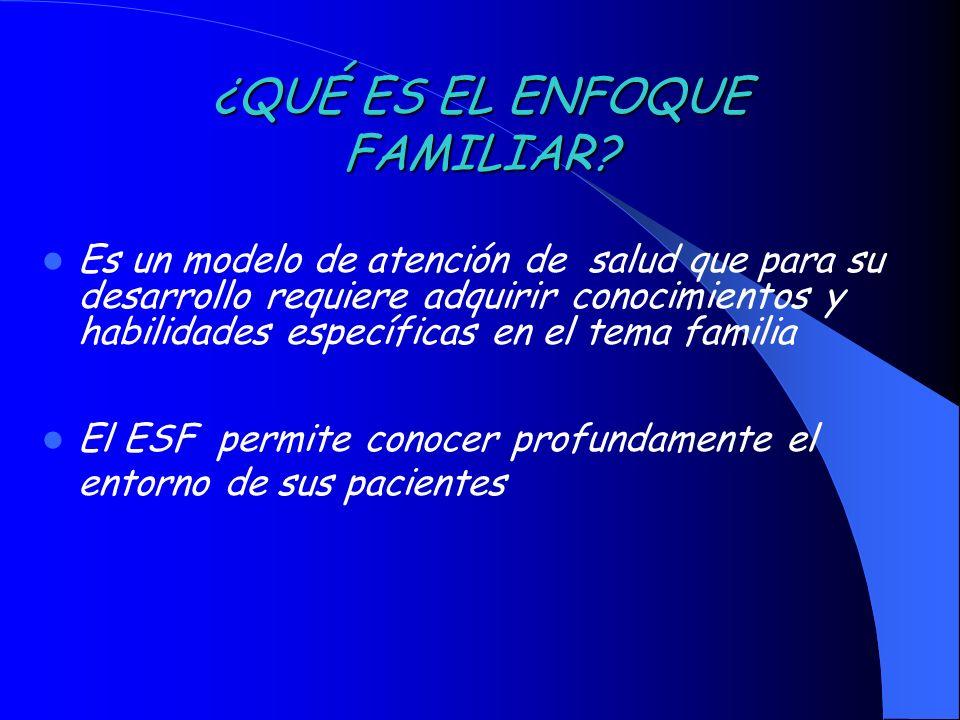 ¿QUÉ ES EL ENFOQUE FAMILIAR