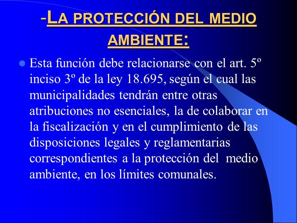 -La protección del medio ambiente: