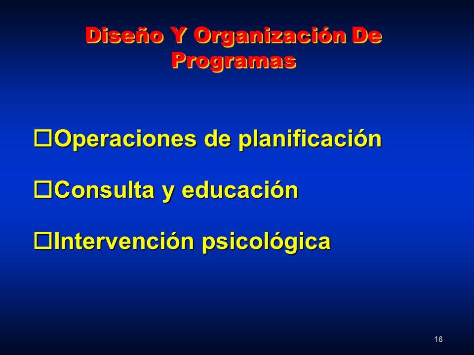 Diseño Y Organización De Programas