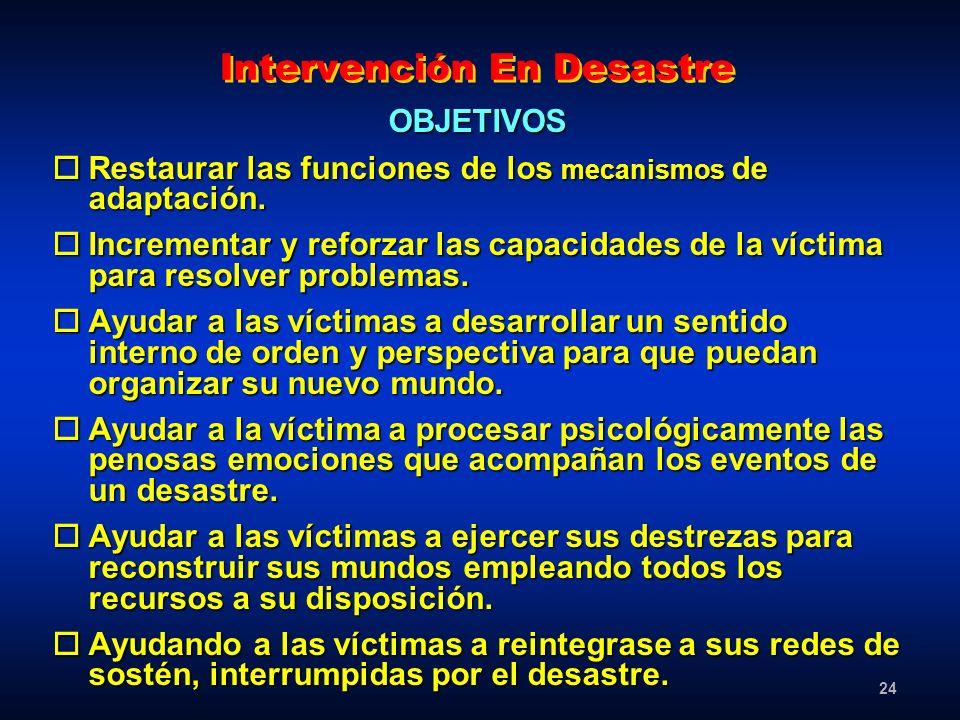 Intervención En Desastre