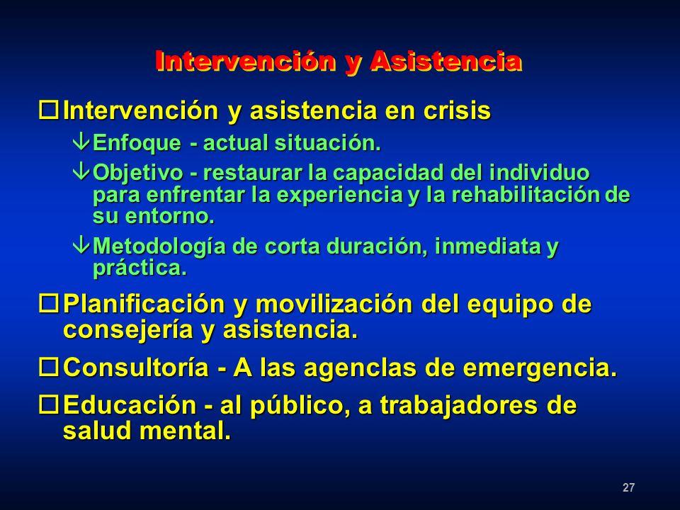 Intervención y Asistencia