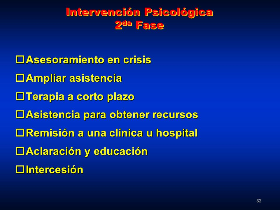 Intervención Psicológica 2da Fase