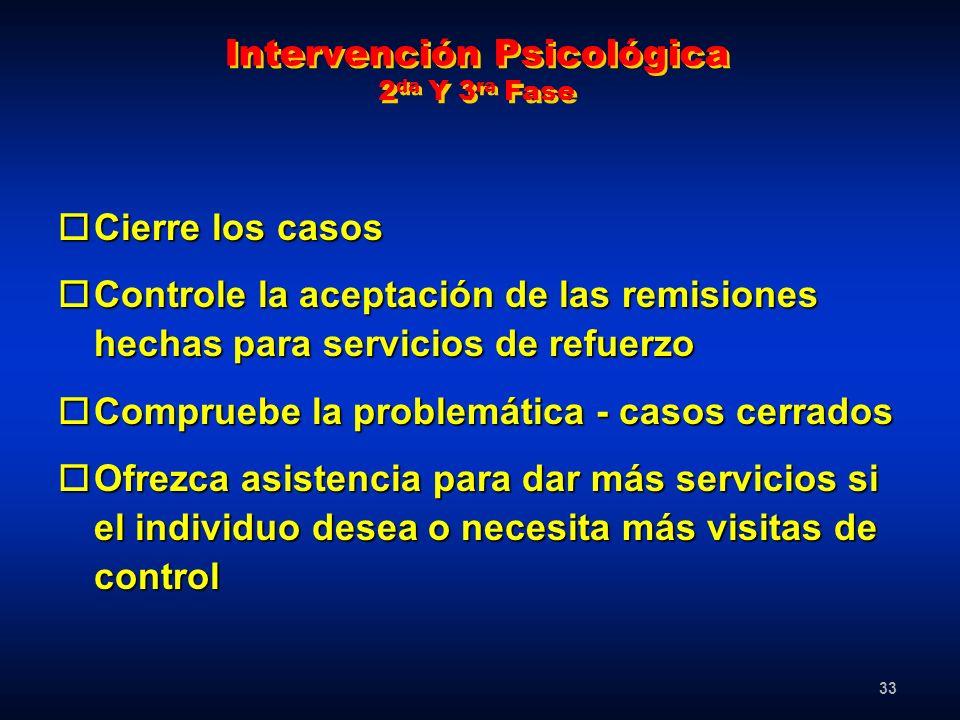 Intervención Psicológica 2da Y 3ra Fase