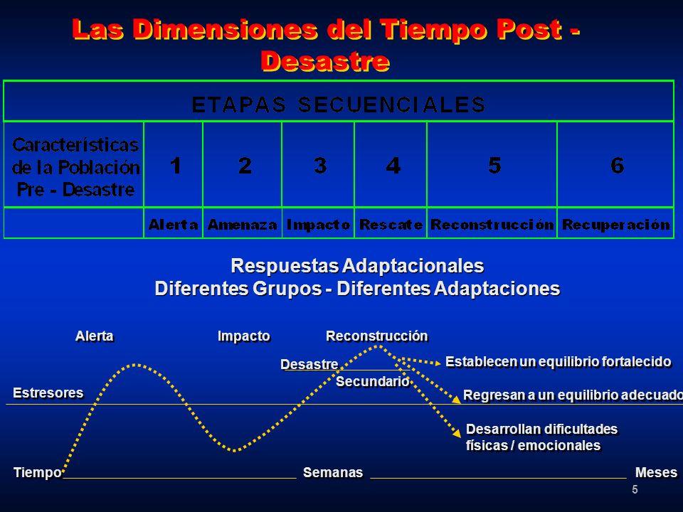 Las Dimensiones del Tiempo Post - Desastre