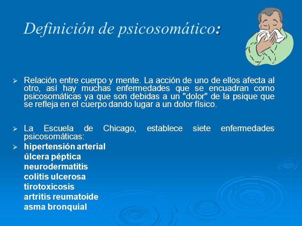 Definición de psicosomático: