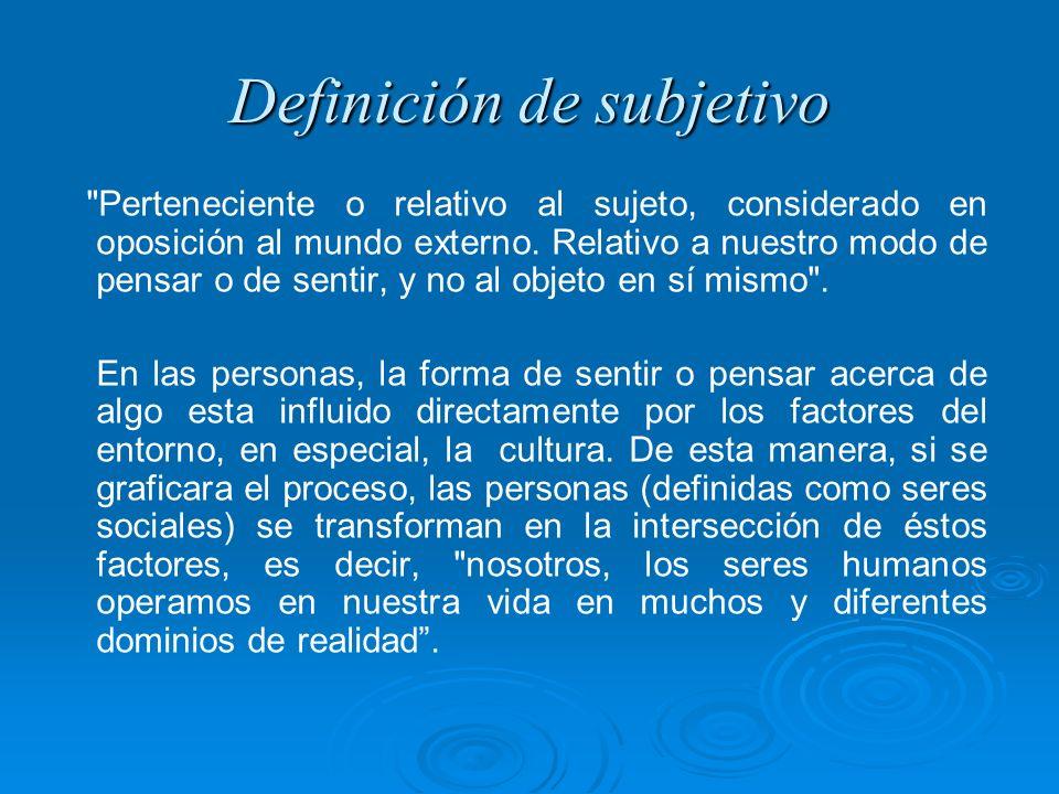 Definición de subjetivo