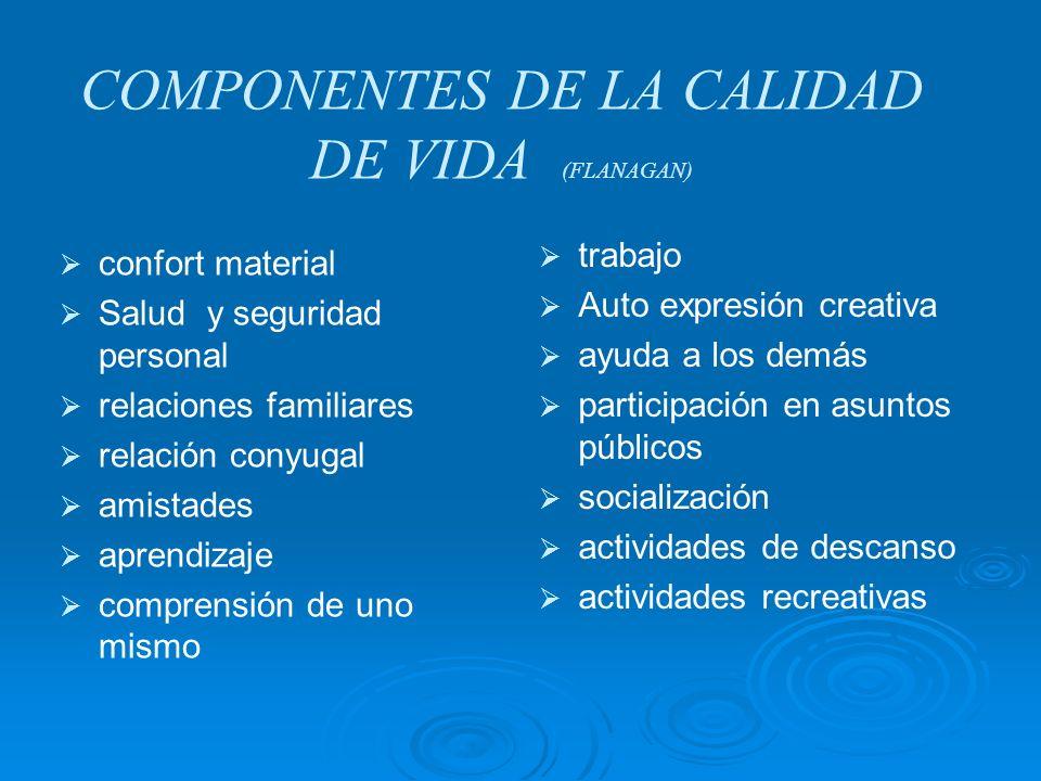 COMPONENTES DE LA CALIDAD DE VIDA (FLANAGAN)
