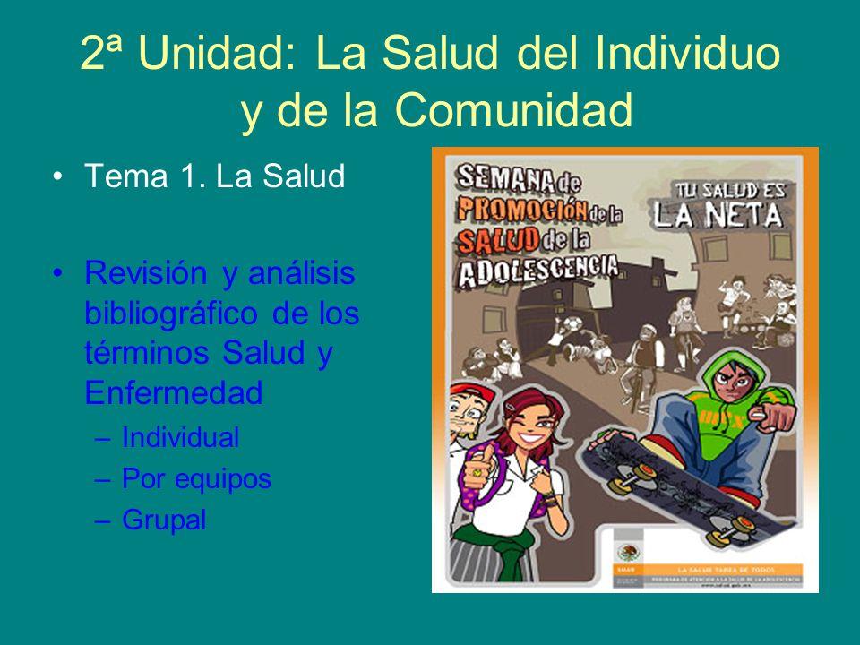 2ª Unidad: La Salud del Individuo y de la Comunidad