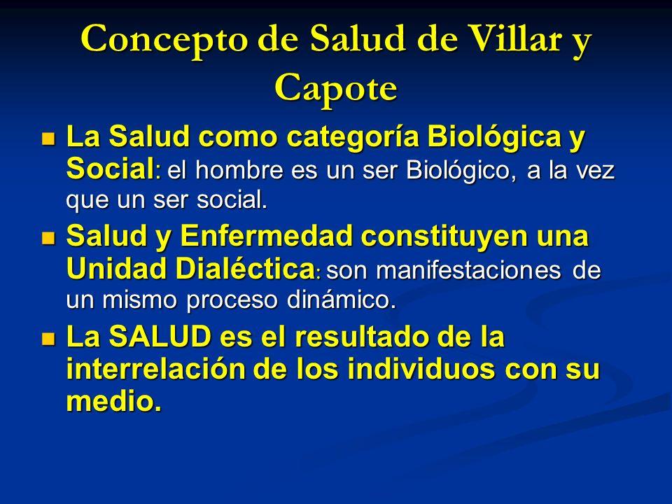 Concepto de Salud de Villar y Capote