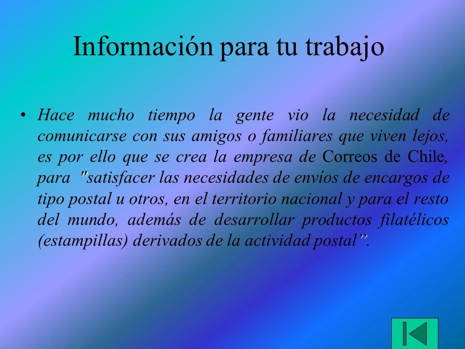 Información para tu trabajo