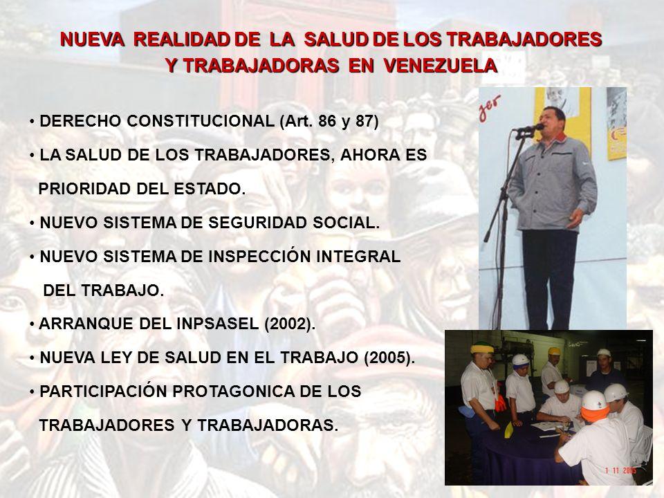 NUEVA REALIDAD DE LA SALUD DE LOS TRABAJADORES Y TRABAJADORAS EN VENEZUELA