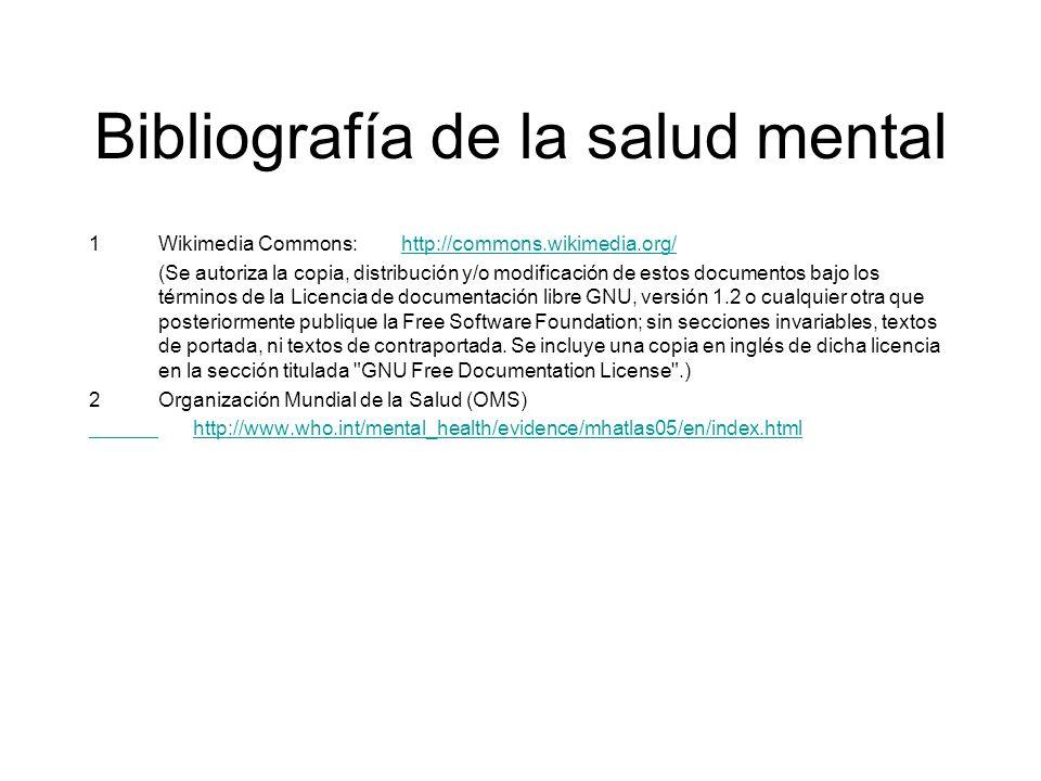 Bibliografía de la salud mental