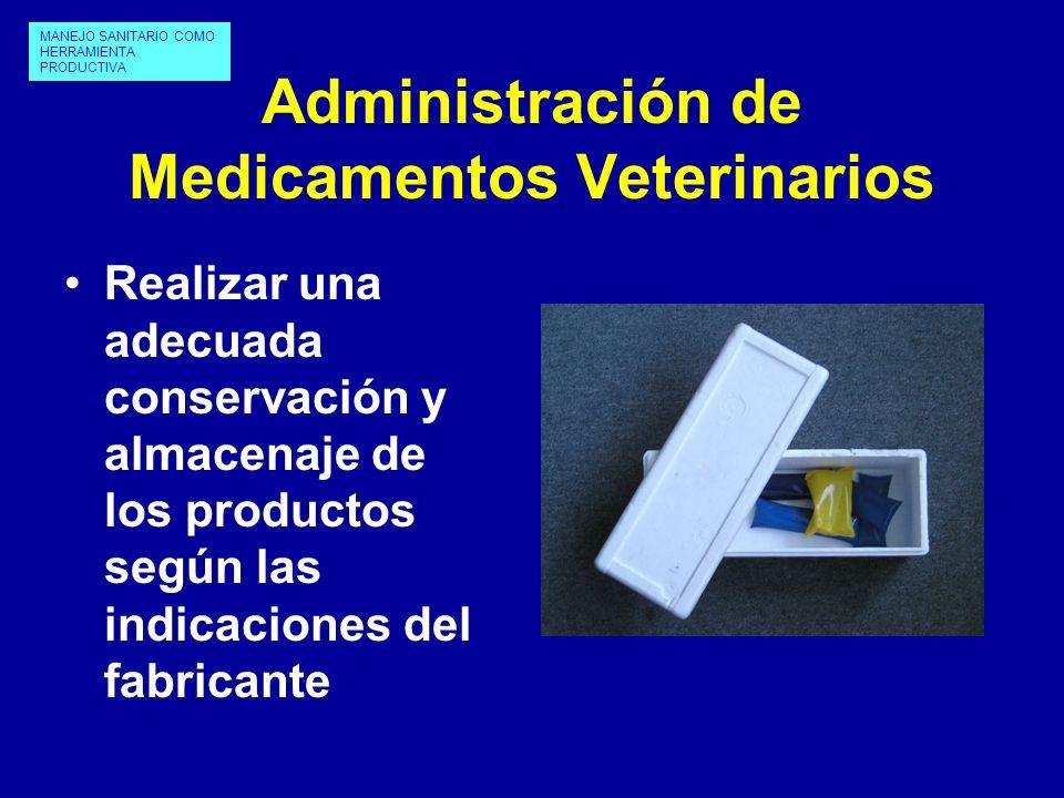 Administración de Medicamentos Veterinarios