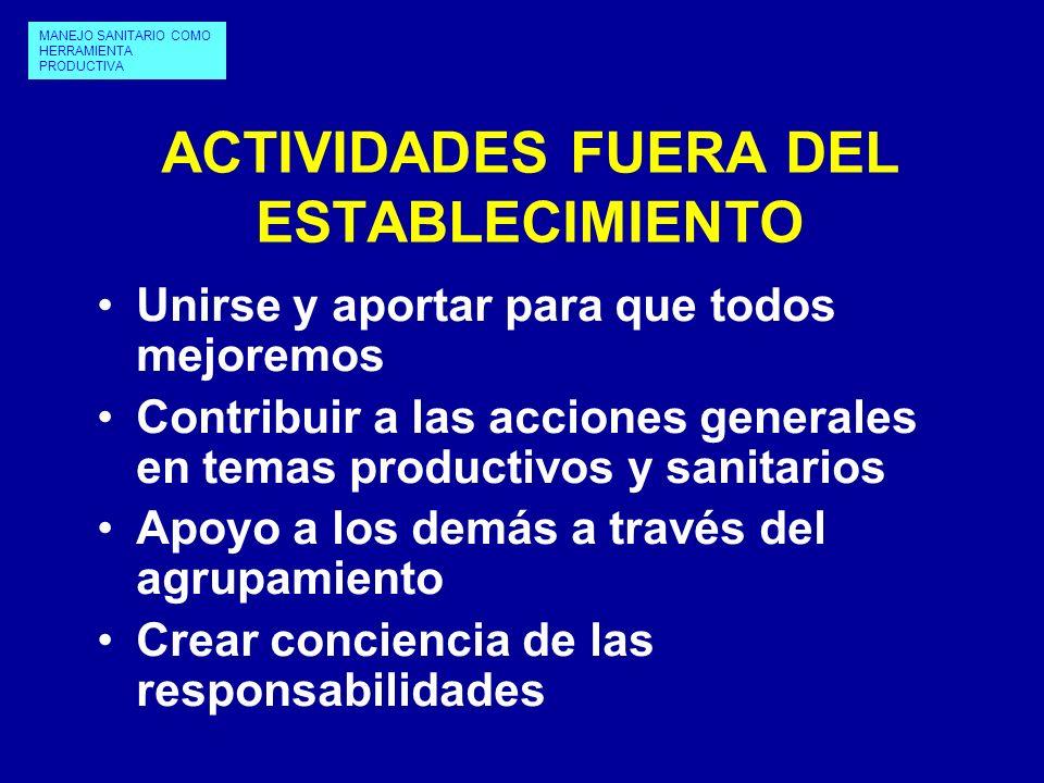ACTIVIDADES FUERA DEL ESTABLECIMIENTO