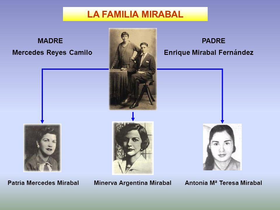 LA FAMILIA MIRABAL MADRE PADRE Mercedes Reyes Camilo