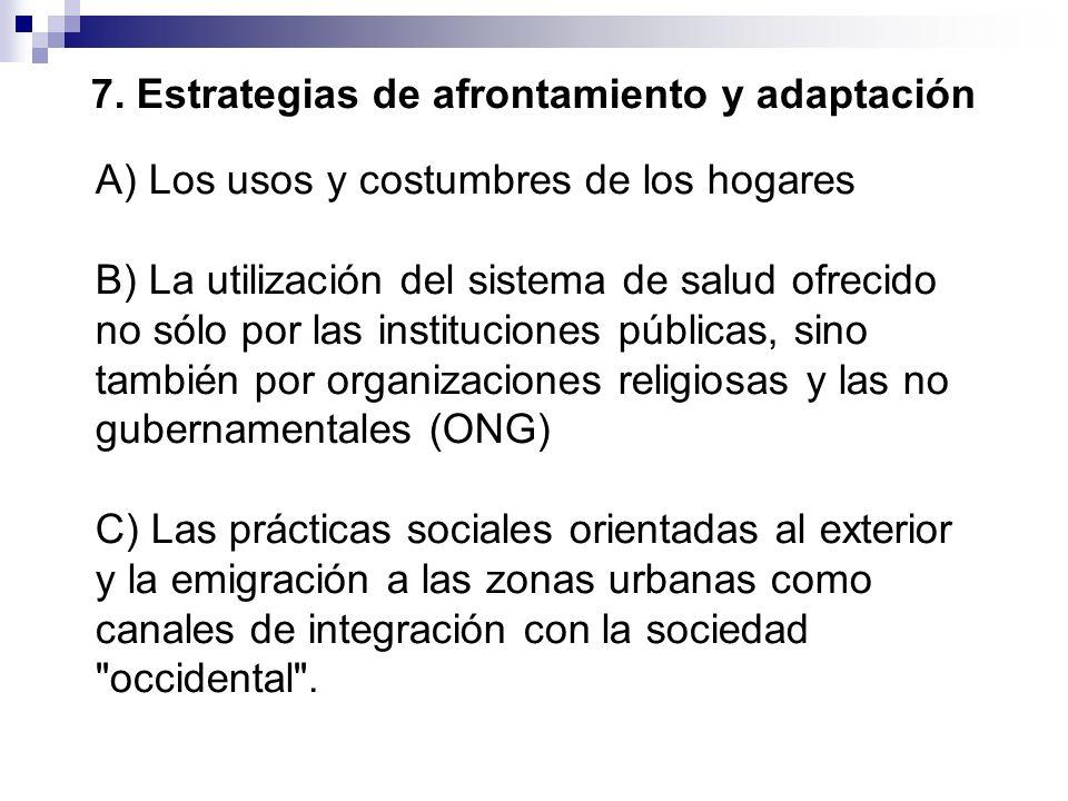 7. Estrategias de afrontamiento y adaptación