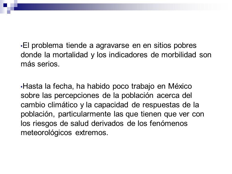 El problema tiende a agravarse en en sitios pobres donde la mortalidad y los indicadores de morbilidad son más serios.