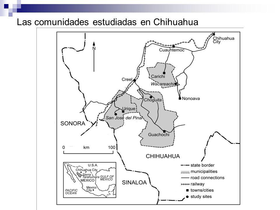 Las comunidades estudiadas en Chihuahua