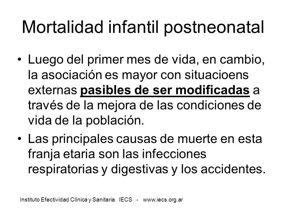 Mortalidad infantil postneonatal