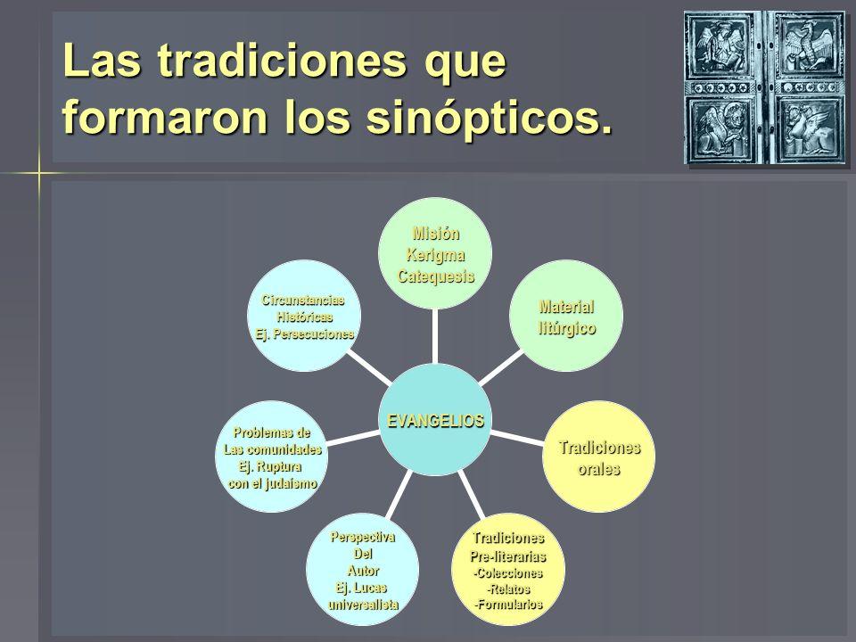Las tradiciones que formaron los sinópticos.