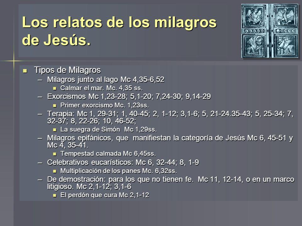 Los relatos de los milagros de Jesús.