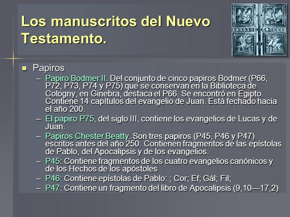 Los manuscritos del Nuevo Testamento.