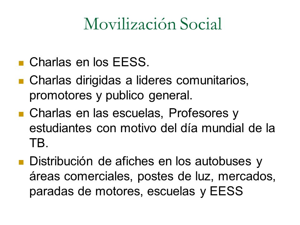 Movilización Social Charlas en los EESS.