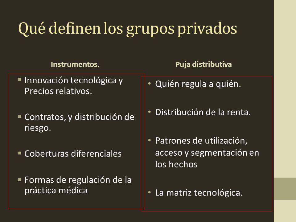 Qué definen los grupos privados