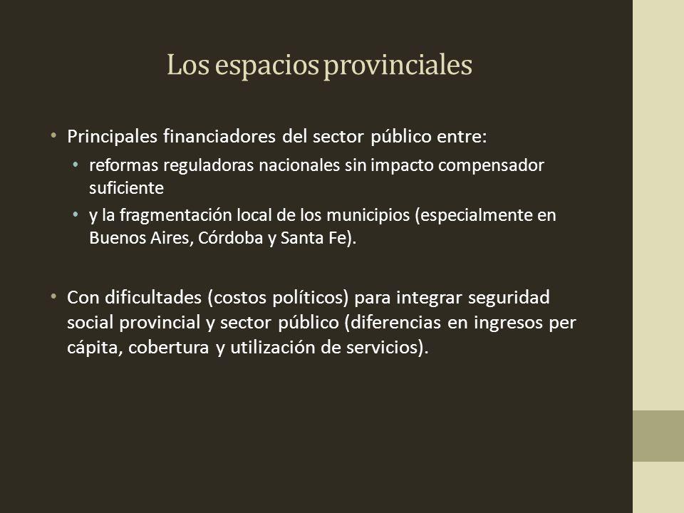 Los espacios provinciales